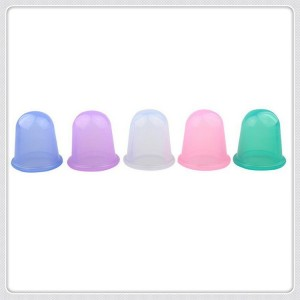 Silicone massage cups set medium