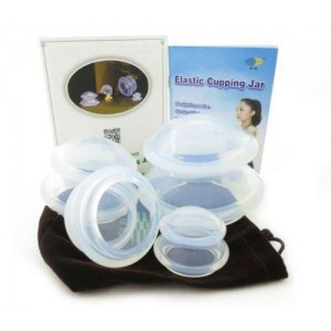 Silicone Cupping Set Transparant 4 delig